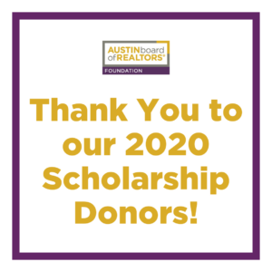 Thank You To Our 2020 Scholarship Donors 300x300